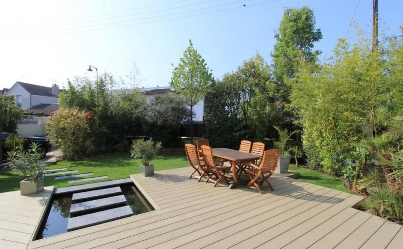 Inspiration et détente sur cette terrasse en bois composite